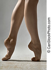 Closeup photo of ballerina's legs