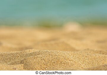 Closeup photo of clean sand from the beach