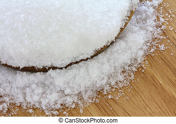 Closeup photo of fine Magnesium sulfate (Epsom salts)