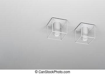 Closeup photo of hanging lamps