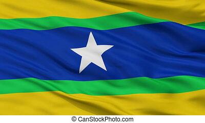 Closeup Piar city flag, Venezuela - Piar closeup flag, city...