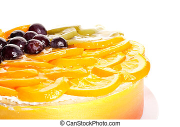 closeup picture of a fruit cake