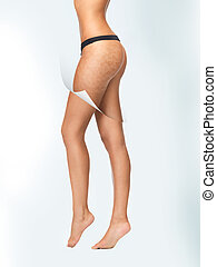 skin cleanse concept - closeup picture of woman in cotton...