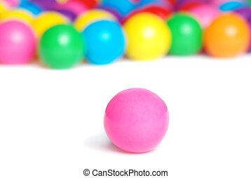 closeup pink gum ball