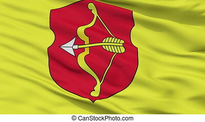 Closeup Pinsk city flag, Belarus - Pinsk closeup flag, city...