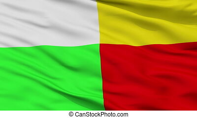 Closeup Plzen city flag, Czech Republic - Plzen closeup...