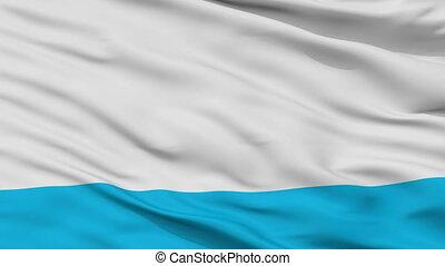 Closeup Pokrovsk city flag, Russia - Pokrovsk closeup flag,...