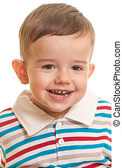 Closeup portrait of a cheerful toddler - A closeup portrait ...