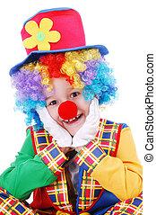 Closeup portrait of a clown