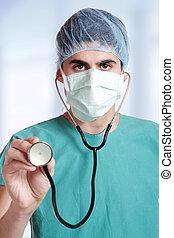 Closeup portrait of a doctor