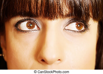 Closeup portrait of a latin woman - Portrait of a hispanic /...