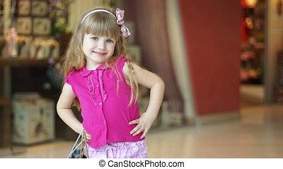 Closeup portrait of a little girl l
