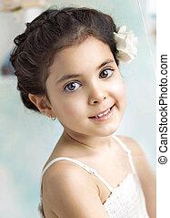 Closeup portrait of a little girl