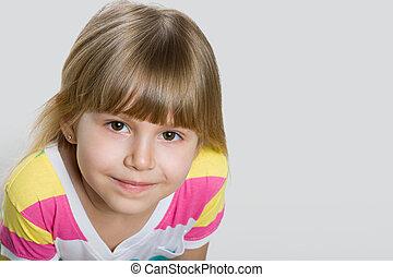 Closeup portrait of a pretty girl