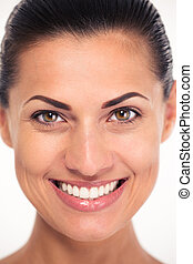 Closeup portrait of a smiling woman