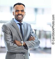 Closeup portrait of a successful African American business...