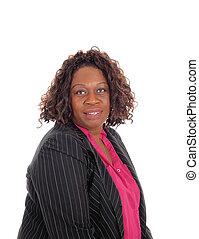 Closeup portrait of African American woman.