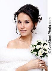 Closeup portrait of an attractive woman