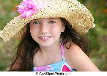 Closeup portrait of beautiful teen girl