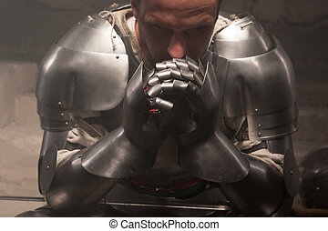 Closeup portrait of medieval armor - Closeup portrait of ...