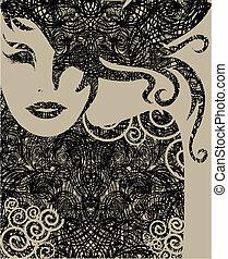 closeup portrait of woman