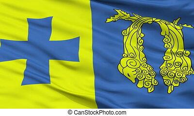Closeup Poti city flag, Georgia