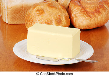 Pound of butter with bread