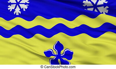 Closeup Prince George city flag, Canada - Prince George...