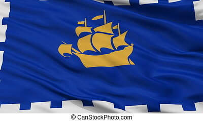 Closeup Quebec City city flag, Canada - Quebec City closeup...