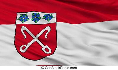 Closeup Rahden city flag, Germany - Rahden closeup flag,...