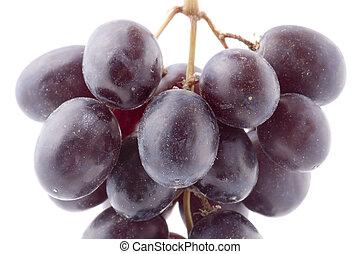 closeup, raisins rouges