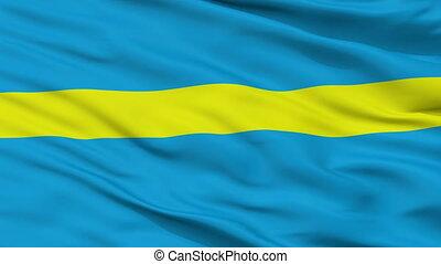 Closeup Rakvere city flag, Estonia - Rakvere closeup flag,...