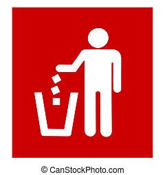 Closeup red garbage disposal