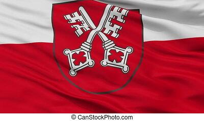 Closeup Regensburg city flag, Germany - Regensburg closeup...