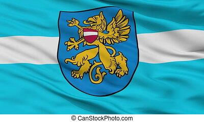 Closeup Rezekne city flag, Latvia - Rezekne closeup flag,...