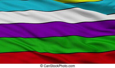 Closeup Rio grande city flag, Argentina