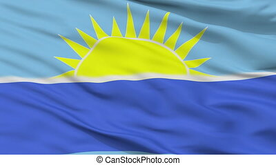 Closeup Riohacha city flag, Colombia - Riohacha closeup...