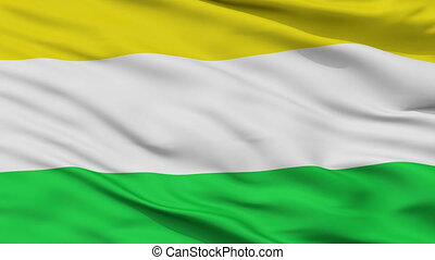 Closeup Riosucio Caldas city flag, Colombia - Riosucio...