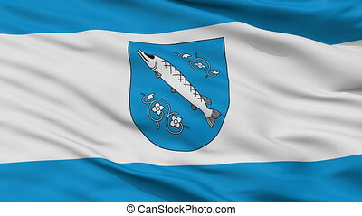 Closeup Rybnik city flag, Poland - Rybnik closeup flag, city...