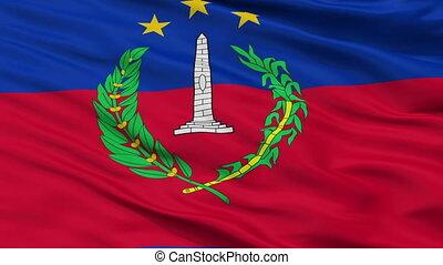 Closeup S Bolivar city flag, Venezuela - S Bolivar closeup...