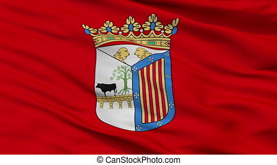 Closeup Salamanca city flag, Spain - Salamanca closeup flag,...