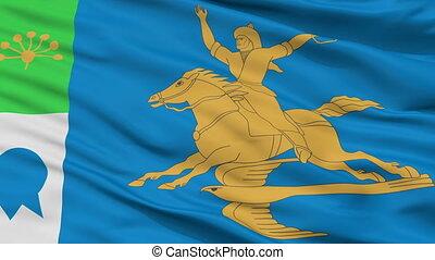 Closeup Salavat city flag, Russia - Salavat closeup flag,...