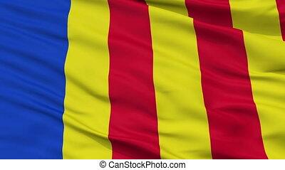Closeup Salerno city flag, Italy - Salerno closeup flag,...