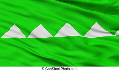 Closeup Salinas city flag, Puerto Rico - Salinas closeup...