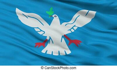 Closeup Salvador city flag, Brasil - Salvador closeup flag,...