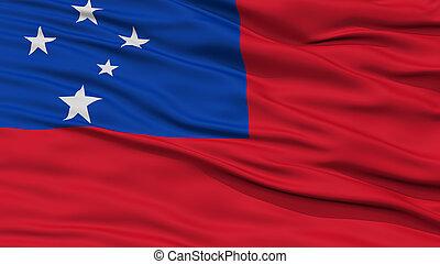 Closeup Samoa Flag