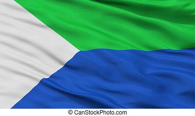 Closeup San Bernardo del Viento city flag, Colombia - San...