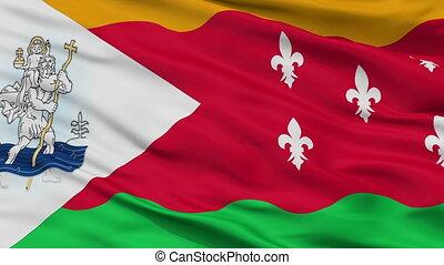 Closeup San Cristobal city flag, Venezuela - San Cristobal...