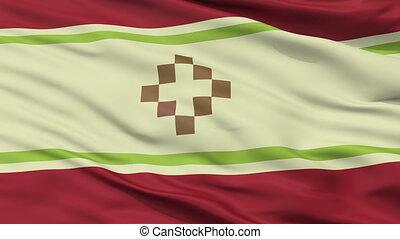 Closeup San Fernando del Valle de Catamarca city flag,...