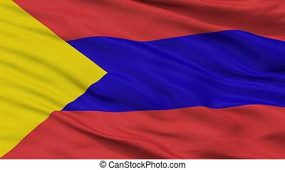 Closeup San Juan de Pasto city flag, Colombia - San Juan de...